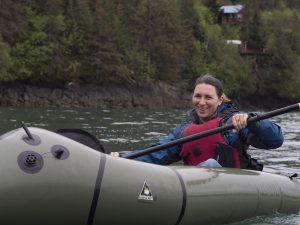 Laura Kayaking in Homer, AK