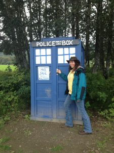 Laura with a Tardis